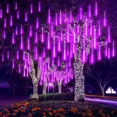 EEIEER LED Icicle Lights Wasserdichte lichterregen meteorschauer,Falling Rain Drop Lights,8 Tubes 192 Bulbs Party-Hochzeits-Weihnachtsdekoration
